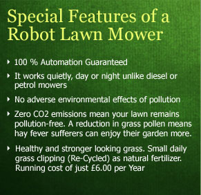 Special Features of Robot Llawn Mower